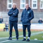 Ian Culverhouse, left, with his King's Lynn Town assistant Paul Bastock Picture: Mark Hewlett Photog