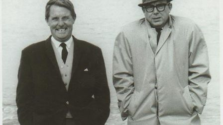 Eric and Ern soak up the Norfolk holiday atmosphere by sharing a few waves of old-fashioned laughter