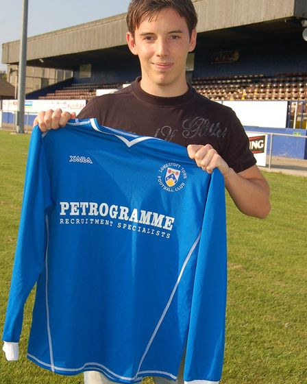 Back then, in July 2009, Adam Smith was one oif four new recruits signed by Lowestoft Town. Picture: