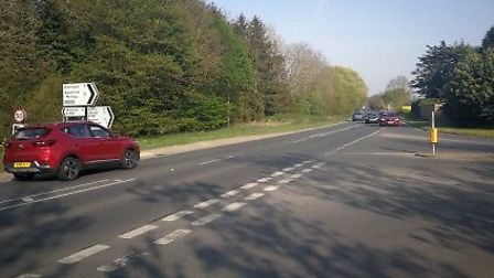 The A1067 at Bawdeswell, where the crash took place. Picture: ARCHANT.