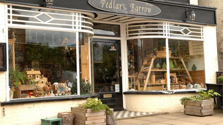The Pedlar's Barrow puppet theatre and shop, where the West Runton family whose home was almost dest
