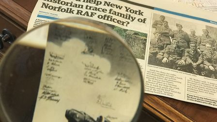 A Norfolk family have helped a US historian who was searching for photographs of a Wymondham airman