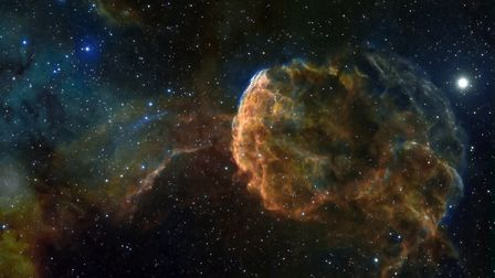 This is known as the Jellyfish nebula and it rests in Gemini. Picture: Shaun Reynolds