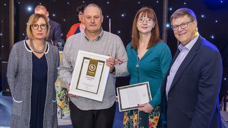 Sara Tough, Roni, Kevin and Andrew Proctor. Pic: Norfolk County Council.