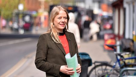 Green Party National Leader Sian Berry visiting Norwich. PICTURE: Jamie Honeywood