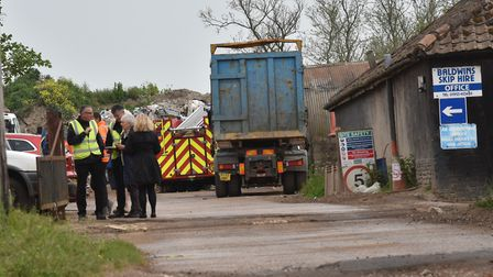 Emergency services on the scene at Besthorpe Picture: Sonya Duncan