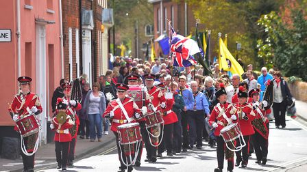 St Georges day parade in BecclesPHOTO: Nick Butcher