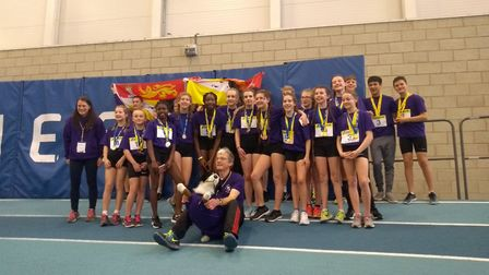 Norfolk Girls Under 13s took gold at the Sportshall National Championships. Picture: Clive Poyner