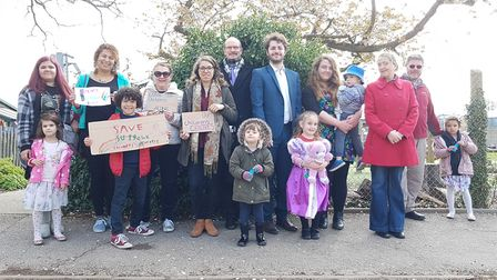 A campaign to save under threat children's centres. Picture: RACHEL EDGE
