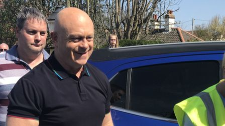 Ross Kemp arriving at the Seal and Shore Easter Event. Picture: Archant