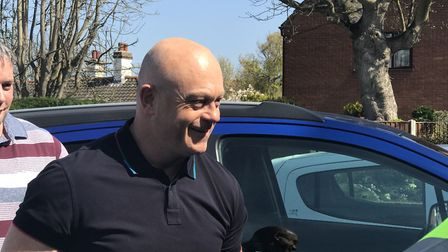 Ross Kemp arriving at the Seal and Shore Easter Event. Picture: Victoria Pertusa