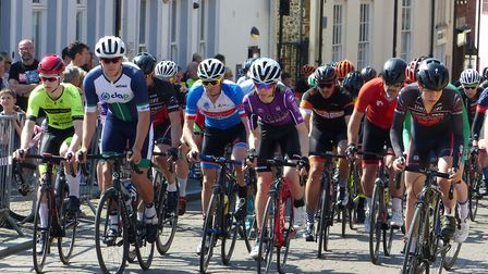 The start of the Cat3/4 Men's race at the Fakenham Town Centre Races Picture: Fergus Muir