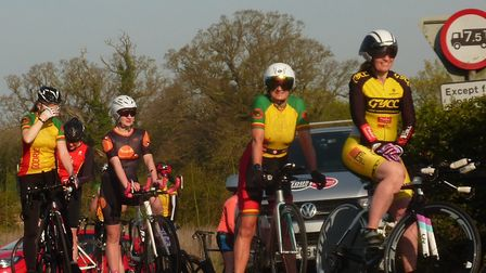 Women wait their turn to start at Redenhall for the Great Yarmouth CC Good Friday 10 Picture: Fergus