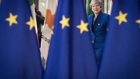 Prime Minister Theresa May at the European Council in Brussels where European Union leaders are meet