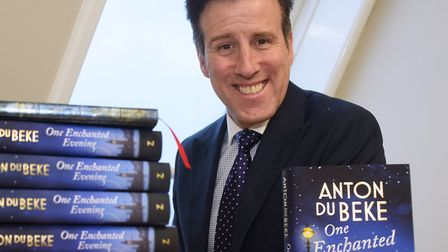 The much-loved Anton du Beke, from Strictly Come Dancing, at a signing for his book, One Enchanted E