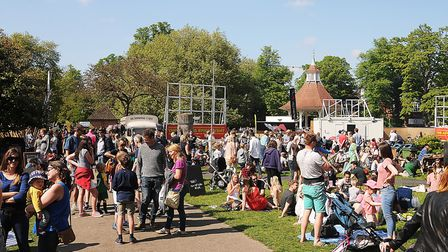 Scenes from the Norfolk and Norwich Festival Garden Party in 2018. Picture: Ian Burt