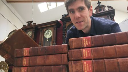 Robert Henshilwood, book specialist at TW Gaze in Diss, estimates the 11 volumes of Francis Blomefie