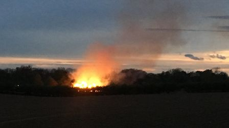 The blaze could be seen from miles away. Pic: submitted.