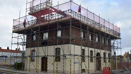 The Coopers Building in Lowestoft about to be demolished. Picture: ANDREW PAPWORTH