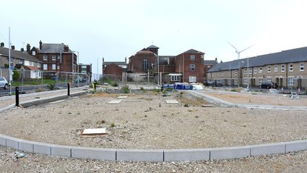 The site of a proposed Burger King drive-through, off Jubilee Way, in Lowestoft which remains untou