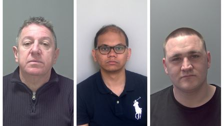 Barry Spearing, Muhammed Tanveer and Shaun Cross. Pictures: Bedfordshire Police