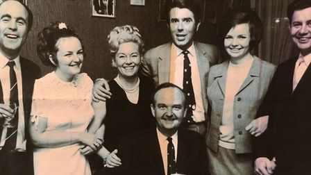 Halcyon days at Great Yarmouth with comedian Leslie Crowther. From left, Wellington Pier deputy mana