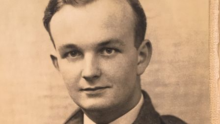 A young Peter Maddock in RAF uniform. In later life he was 'a first class manager to work for; he wa