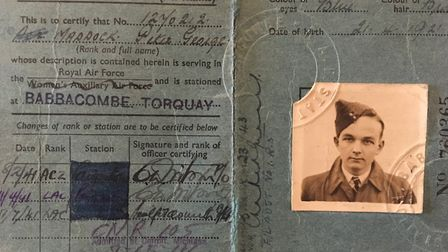 So young... Peter Maddocks' wartime identity card Picture: FAMILY COLLECTION