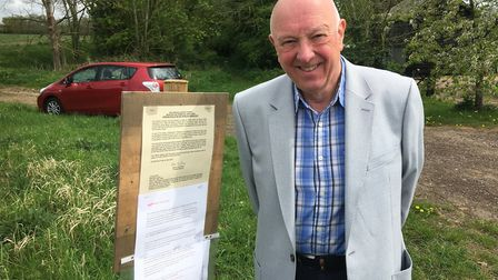 Nigel Frankland, chairman of Burston and Shimpling Parish Council, is supporting moves to ban vehicl