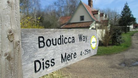 The long distance Boudicca Way footpath, from Diss to Norwich, runs along two thirds of Back Lane at