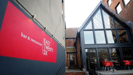 The former East Twenty Six bar and restaurant, Exchange Street, Norwich. Pic: Archant