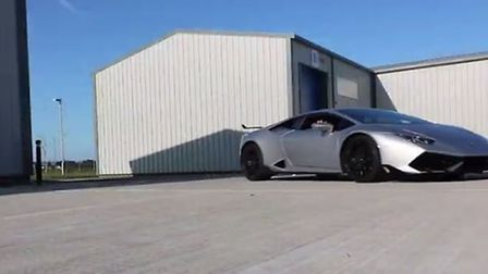 Wolfe posted a video on YouTube of driving a Lamborghini to FitLearn's base in Lowestoft. Photo: You