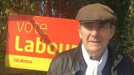 Mike Ward, Labour candidate for Trunch at the North Norfolk District Council election in May 2019. P