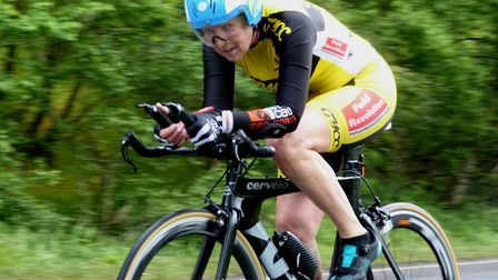 Jenny Anderson (Great Yarmouth CC) was third at Wolsey RC's 25 – by just one second. Picture: Fergus