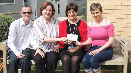 From left Richard Chappell, Katrina Chappell, Angela Holford and Lesley Pottle Picture: QEH