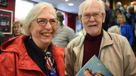 Judy Greenland and Geoff Hinchcliffe at the Ian McKellen show at Norwich Playhouse. Picture: DENISE