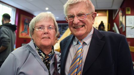 Penelope and Richard May at the Ian McKellen show at Norwich Playhouse. Picture: DENISE BRADLEY