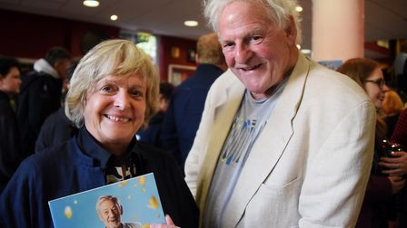 Helen McDermott and Paul Barnes at the Ian McKellen show at Norwich Playhouse. Picture: DENISE BRADL