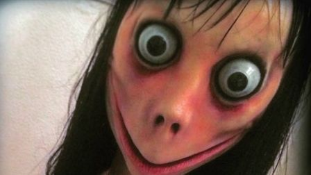 The female doll-like avatar linked to the Momo 'suicide challenge'. Picture: Supplied