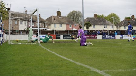 Shirley D Whitlow's photograph of Lowestoft Town FC v Bedworth United FC 27th April 2019. Photo sho