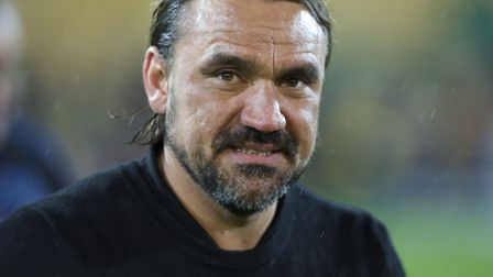 Daniel Farke enjoying the celebrations after leading Norwich City to the Premeir League Picture: Ala
