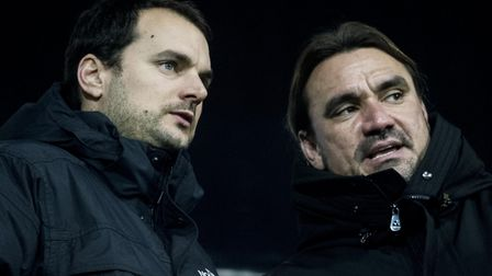 Sporting director Stuart Webber, left, and head coach Daniel Farke - the architects of City's succes