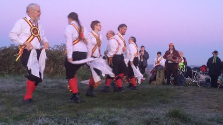 Morris dancers will welcome in the summer by dancing at sunrise at Mousehold Heath on May 1. Pic: Ra