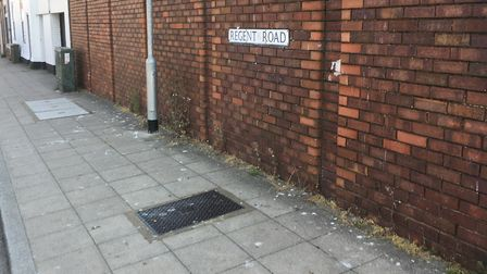 Regent Road in Lowestoft where a man was assaulted on his way to work. Picture: Mark Boggis