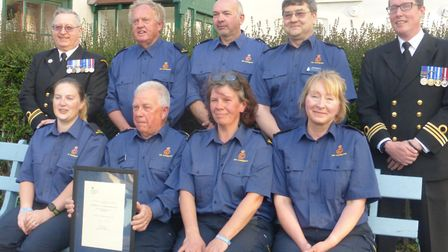 Members of Wells Coastguard Rescue Team were awarded the Maritime and Coastguard Agency's chief exec