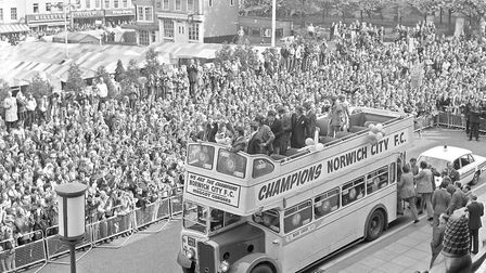 NCFC parade through Norwich city centre, 7th May 1972. Picture: Archant Library