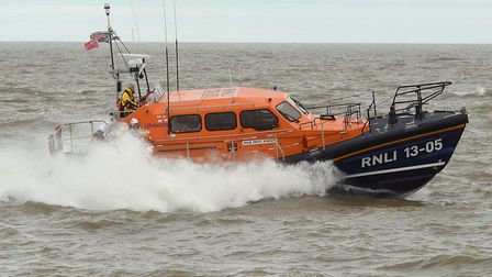 Lowestoft's RNLI lifeboat, Patsy Knight, was called out. Photo: Mick Howes.