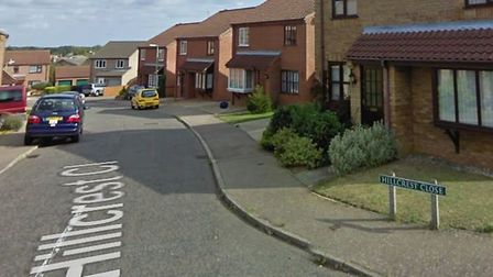On March 28, two girls were approached by a male on Hillcrest Close in Worlingham. Picture Google Ea