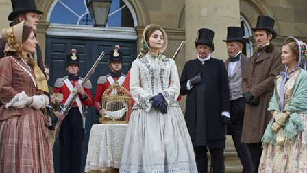 The birth of the Royal visit. Jenna Colman as Queen Victoria. Photo: ITV,Mammoth Screen.