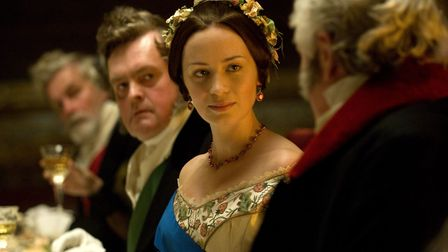 Queen Victoria (EMILY BLUNT) in The Young Victoria heralding the start of the state dinner.